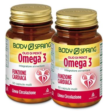 Body Spring Linea Colesterolo Olio di Pesce Omega3 Integratore 2x50 Capsule