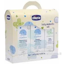 Chicco Linea Baby Moments Cofanetto Trial Bagnoschiuma+Shampoo+Pasta Lenitiva
