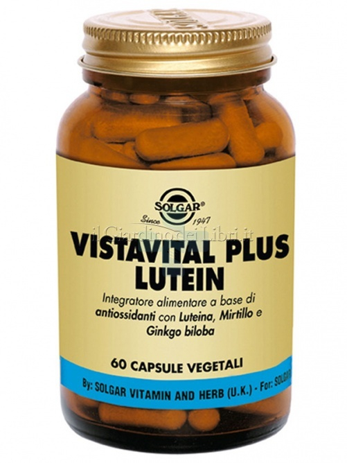 Solgar Linea Occhi Vistavital Plus Lutein Integratore Alimentare 60 Capsule