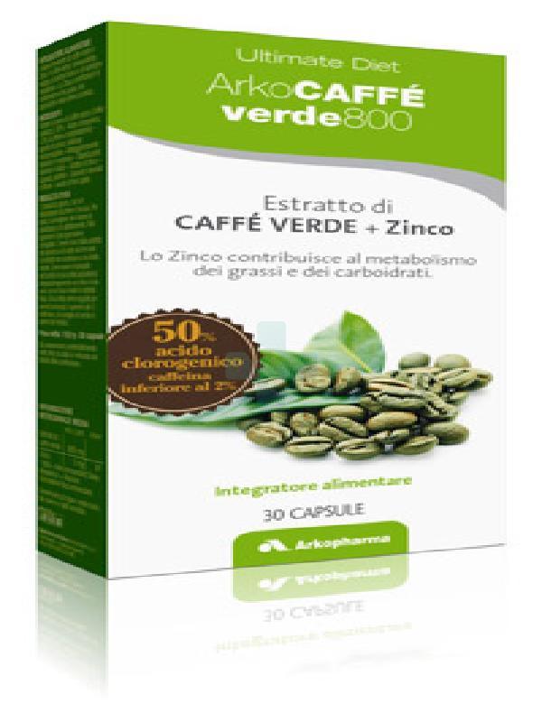 Arkopharma ArkoCaffè Verde 800 Integratore Alimentare Metabolismo 30 Capsule