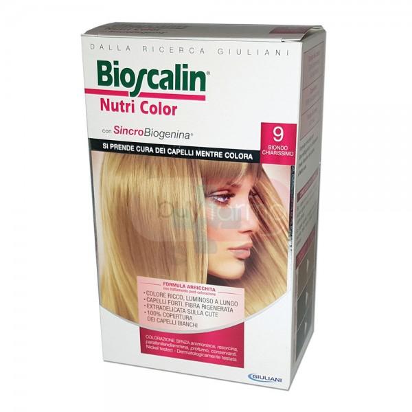 Bioscalin Linea Colorazione Delicata Tinte Capelli Nutricolor 9 Biondo Chiarissi