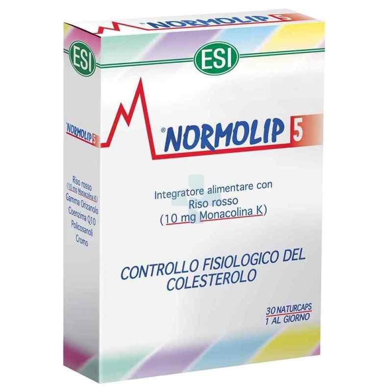 Esi Linea Controllo Colesterolo Trigliceridi Normolip 5 Integratore 30 Capsule