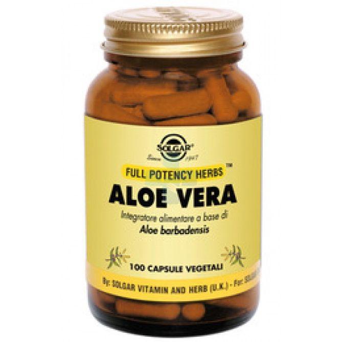 Solgar Aloe Vera Integratore Intestinale 100 Capsule Vegetali