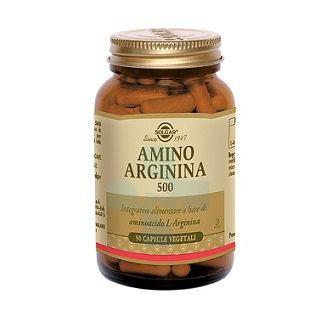 Solgar Amino Arginina 500 Integratore Alimentare 50 Capsule Vegetali