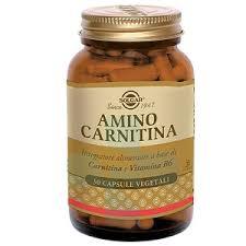 Solgar Amino Carnitina Integratore Aminoacidi e Vitamine 30 Capsule