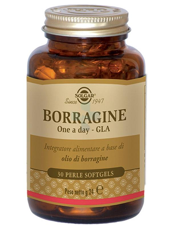 Solgar Borragine One Day Integratore Alimentare 30 Perle