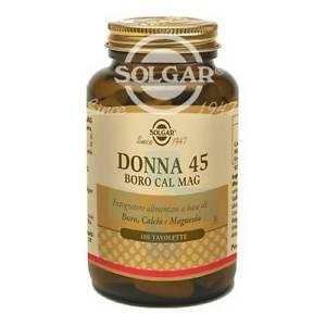 Solgar Linea Minerali Donna 45 Boro Cal Mag Integratore Alimentare 100 Tavolett