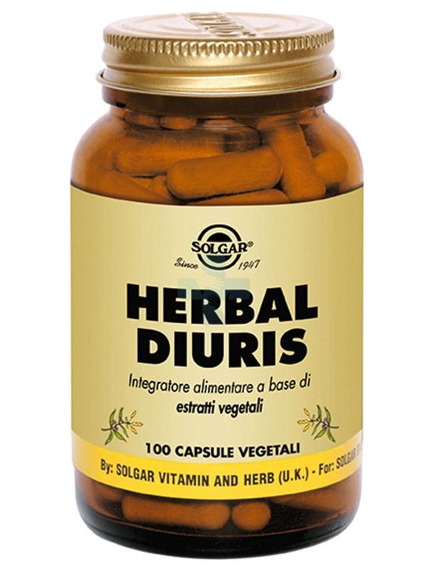 Solgar Herbal Diuris Integratore 100 Capsule