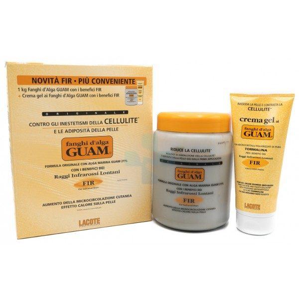GUAM Fanghi d'Alga Anticellulite Fanghi Classici FIR 1 Kg + Gel Anticellulite